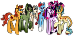 Commission: Benybing's Mane 6 by Winter-Hooves