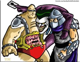 Shredder, Krang and The Joker by UBob