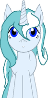 Ice the Winter Pony Face by AerisHikari