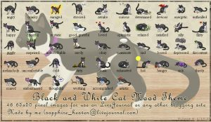Black and White Cat Mood Theme by princess-phoenix