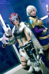 Woad Scout Quinn and Amethyst Ashe by MowkyCosplay