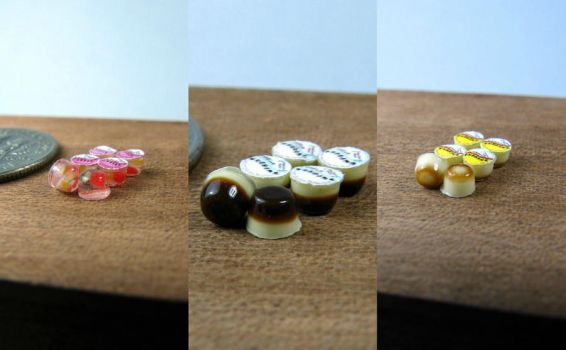 Miniature Jelly Cups 1-24 by Snowfern