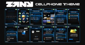ZANY Cell Phone Theme by Nischo