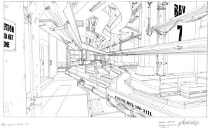 Star Airport interior baggage handling zone 3 by DanNortonArt