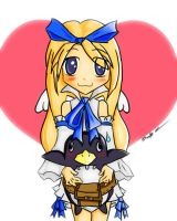 Flonne and Prinny by Launite