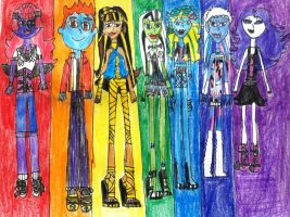 Monster High Pride by MyLittleSquirrelGirl