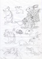rabbits and 2 rats :D by Smok15