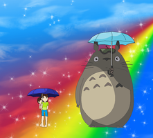 Totoro and Childhood Us by Emikodo