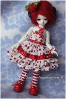 Outfit - Strawberry Cupcake by sherimi