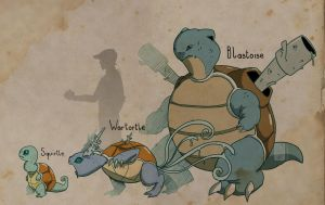 Blastoise and cie by UmbreoNoctie