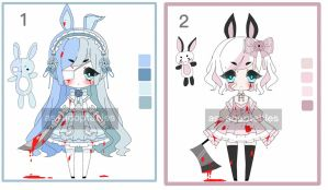 yandere bunny adoptable batch CLOSED by AS-Adoptables