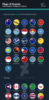 Flags of Oceania - Flat Icons by BlinVarfi