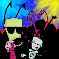 Invader Zim Party Rock Rave_request by CritterInvasion