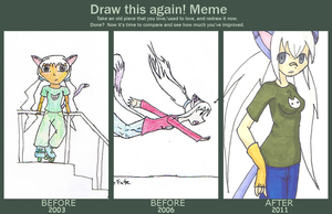 Before and After Meme: Amelia by SqueekyTheBalletRat