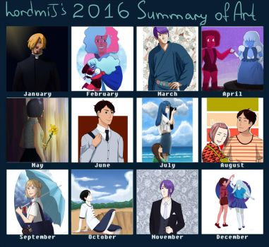 2016 Summary of Art by Lynlann