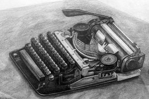 typewriter by vivsters