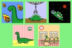 Mini 2x2 inch illustrations-dinosaurs! by Knuckers-Hollow