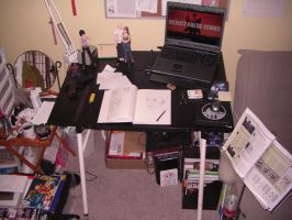 Messy Workspace by ACGalaga