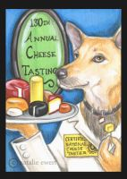 Claire The Cheese Tasting Dog by natamon