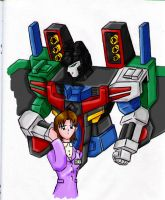 Alexis and Energon Starscream by SkinsT