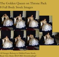 Golden Queen on Throne Pack by HiddenYume-stock