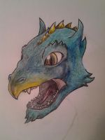 My newest dragon. (not finished yet) by Gnaffdaz