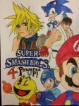 Super Smash Bros. 4 Powered Up! by dcb2art