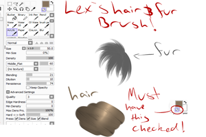 Hair and fur brush SAI settings- Video tutorial by doragon-hane