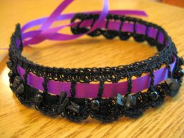 Purple and Black Gothic Choker by doilydeas