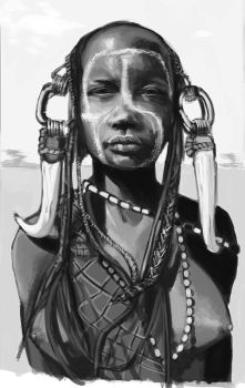 African Girl - Practice from reference by ITAGalf