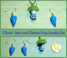 Okami - Issun and Demon Fangs Jewelry Charms by YellerCrakka