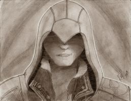 Ezio from AC2 - Value Study by Kyoko-Zelch