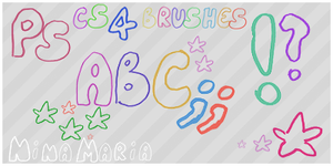 Brushes Set 02 abc by Ninamarja