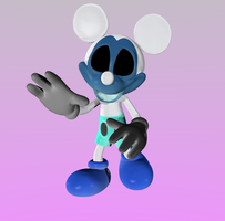 Shade Mickey V4 full body by Photo-NegativeMickey