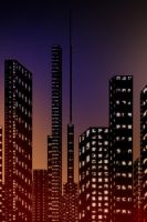 Finished City Scape by Shades-ofGray