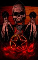 \m/ Metal \m/ Pentagram Shaped CD Cover by InfamousGee