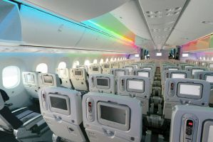 ANA Boeing 787-8 Dreamliner cabin LED show by boeingboeing2