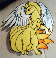 winged ninetails magnet by tierafoxglove
