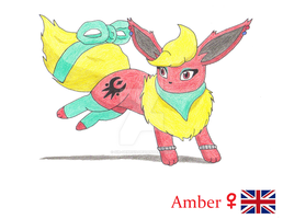Amber the Flareon by Sir-Genesis