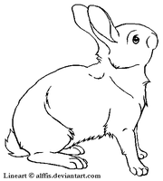 Free rabbit lineart by Alffis
