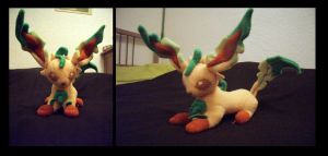 Leafeon Plush by fireflytwinkletoes