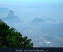 View from Corcovado 02 by kuschelirmel-stock