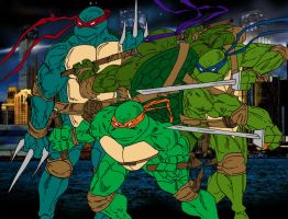Heroes in a Half Shell FLATS by JamesLeeStone
