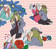 Commission: Flowers, Letters and Romances by PettyPrince