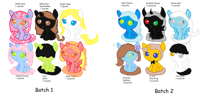 Pony Adoptables (Cheap) by AquaGumball