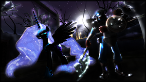 The Nightmare Moon AND The Nightmare Knight by Dragon-V0942