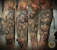 Joker Roulette  pin up final by 2Face-Tattoo