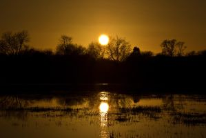 Sunset Reflection by GeorgeAmies