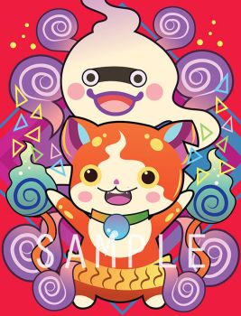 Yokai Watch Postcard Prints by Ri2sart