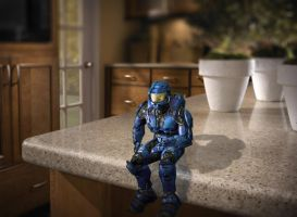 Halo on a counter :D by Iceey23